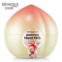 Крем для рук увлажняющий персиковый Bioaqua Peaches Hand Milk (30г)