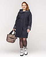 Качественное весеннее женское пальто назапах батал