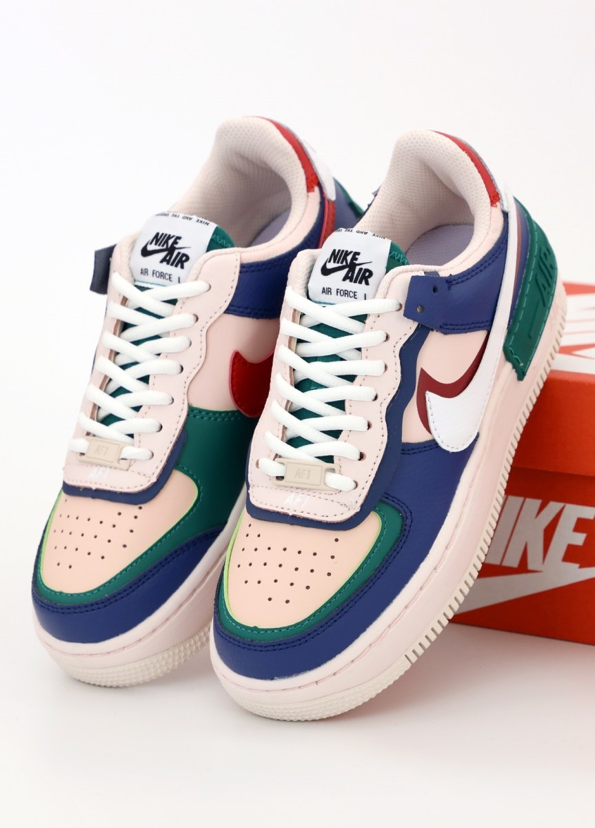 Женские кроссовки Nike Air Force 1 Low Pink, Blue