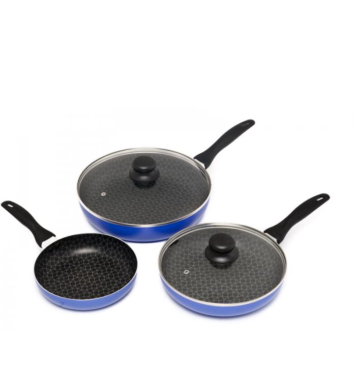 Набор титановых сковородок Spider Pan (3 шт.)