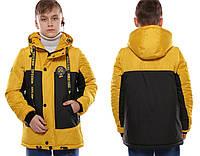Детская демисезонная куртка-жилет для мальчика Vlad Желтый (128-158 см) на весна-осень