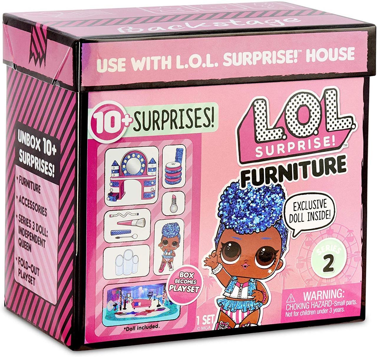 Оригинал. Новинка! Игровой набор с куклой L.O.L. SURPRISE! - Стильный Интерьер Леди-Независимость