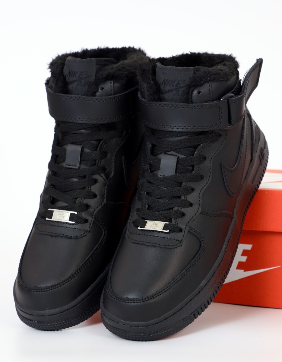 Зимние мужские кроссовки Nike Air Force 1 Mid Winter c мехом, nike air force high