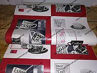 Обои виниловые Чашки 5653-12 супермойка длина рулона 15 м ширина 0.53м=5 полос по 3 м каждая, фото 1