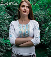 Жіноча вишиванка Мережка жовто-блакитна
