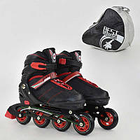 Ролики Best Roller красные, размер 39-42, колеса PU, в сумке - 185922