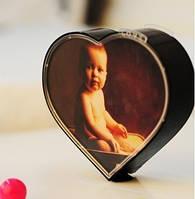 Вращающаяся фоторамка в виде сердца, рамка для фотографий - вращающееся сердце