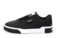 Мужские кроссовки Puma Cali 'Black/White'  (Premium-class) черные