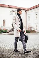 "Мужское Пальто Pobedov Coat ""BATYA"" Beidge"