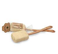 Губка из сизаля с деревянной ручкой 10304