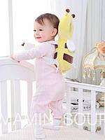 Детская защита для головы противоударная подушка от падений пчелка с колечком