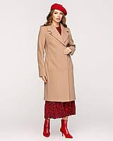 Классическое демисезонное пальто прямого кроя с поясом, разные цвета, фото 1