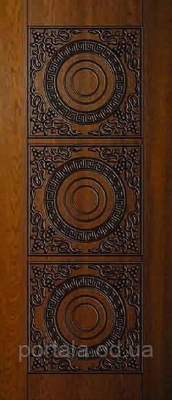 """Вхідні двері для вулиці """"Портала"""" (Преміум Vinorit) ― модель АМ19 Patina"""