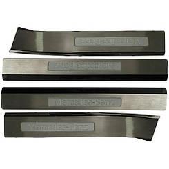 Накладки на пороги с подсветкой BENZ W220 S350 (02~) (WE-S0121 BB-SE-EL)