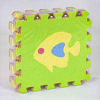Коврик-пазл Eva С 36602 Рыбки 24 массажный, 9 эл. в упаковке, 30х30см