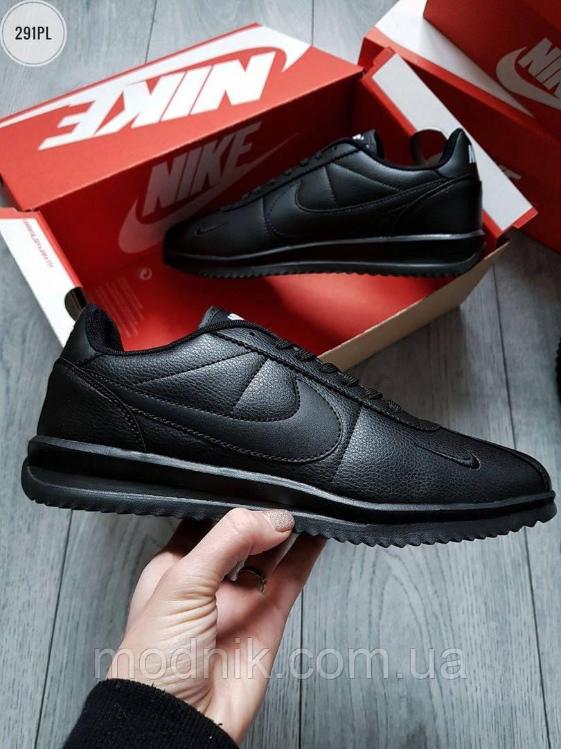 Мужские кроссовки Nike Cortez (черные) 291PL