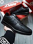 Мужские кроссовки Nike Cortez (черные) 291PL, фото 5