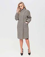 Деловое твидовое женское пальто назапах с поясом, разные цвета