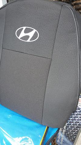 Чохли Hyundai Elantra з 2011 р. 2/3 спина /передній і задній підлокітник/ 5 підголовників, фото 2