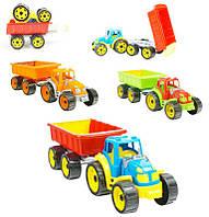 Трактор с прицепом Технок 3 цвета