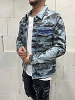 Стильный мужской джинсовый пиджак Турция