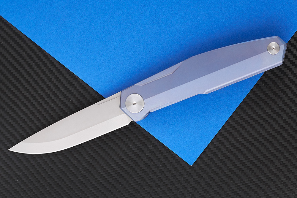 Нож складной S3 puukko flipp sky purp-9522