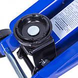 Домкрат гидравлический автомобильный подкатной 2 т min 128мм - max 300мм (картон.уп.), фото 3
