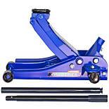 Домкрат гидравлический для шиномонтажа СТО подкатной 3 тонны 85мм - max 455мм с низким подкатом, фото 5