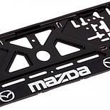 Рамка номера пластик с хром. рельефной надписью MAZDA (UKR-09), фото 2