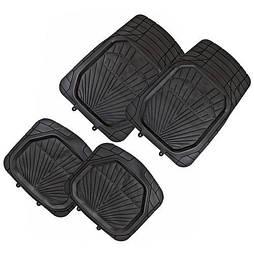 Автомобильные Коврики PVC  4шт./компл. черные 77x52 47x50