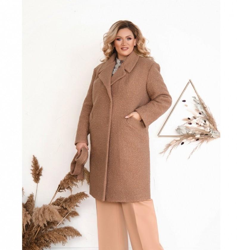Пальто Minova №3282-пудра