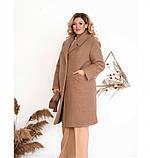 Пальто Minova №3282-пудра, фото 3