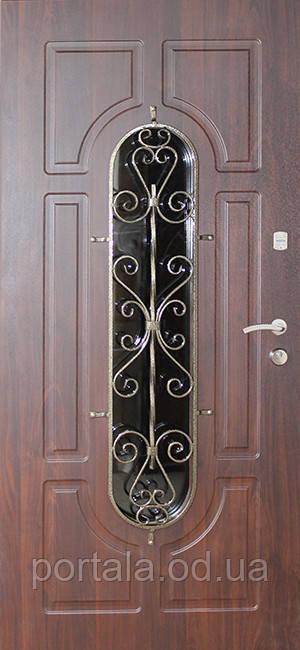 """Входная дверь для улицы """"Портала"""" (Премиум Vinorit) ― модель Ковка 28"""