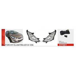 Фары доп.модель Hyundai Elantra/2014/HY-691W/H8-35W/эл.проводка (HY-691W)