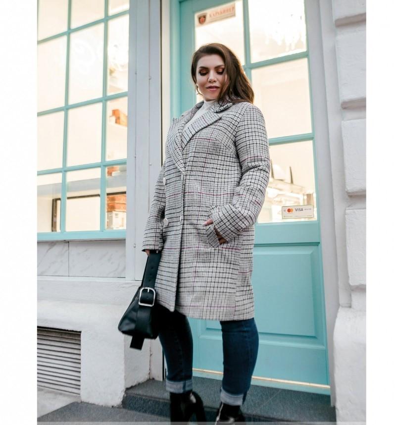 Пальто Minova 775Б-бордо