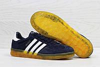 Кроссовки мужские темно синие Adidas Gazelle Indoor 5560