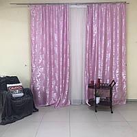 Шторы на двери из жаккарда ALBO 150x270 cm (2 шт) Розовые(SH-С32-13), фото 1