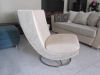 Удобное мягкое кресло для офиса Атена (кожа)