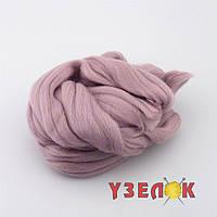 Пряжа для валяния 26-29 микрон (цвет: серо розовый)