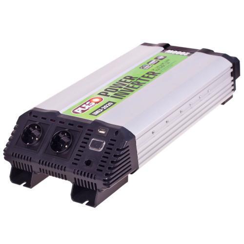 Преобраз. напряжения PULSO/IMU-2020/12V-220V/2000W/USB-5VDC2.0A/мод.волна/клеммы (IMU-2020)
