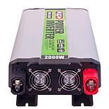 Преобраз. напряжения PULSO/IMU-2020/12V-220V/2000W/USB-5VDC2.0A/мод.волна/клеммы (IMU-2020), фото 4