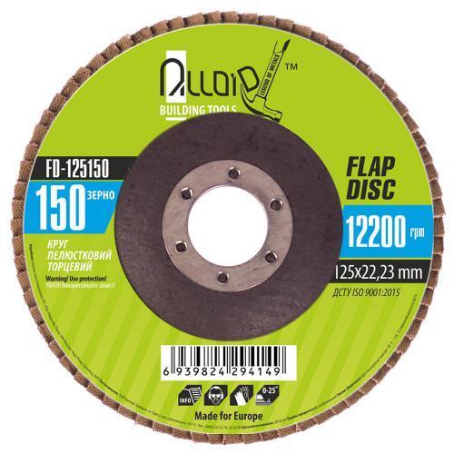 Alloid. Круг лепестковый торцевой 125 мм, зерно 150 (FD-125150)
