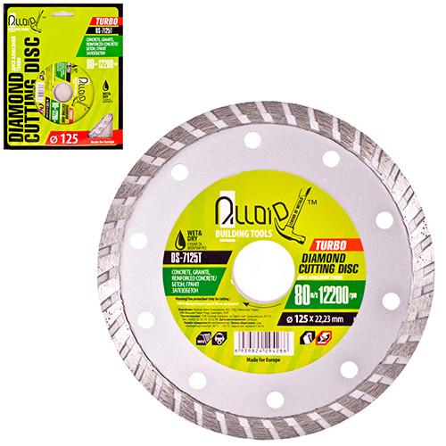 Alloid. Диск алмазный отрезной Turbo 125 мм (DS-7125T)