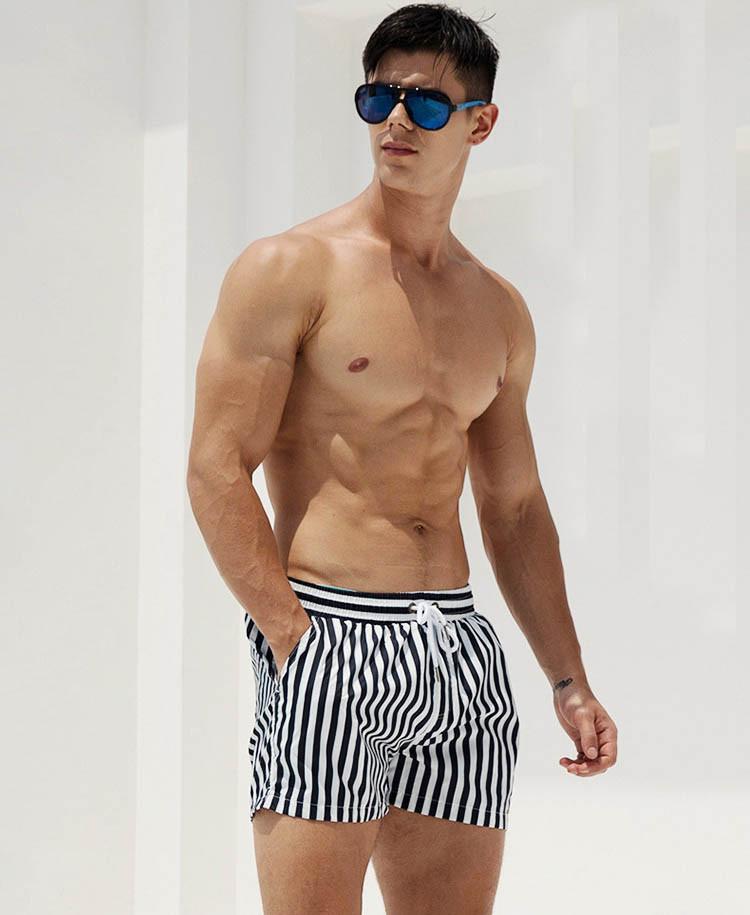 Пляжные мужские шорты в полоску Desmit - №4464