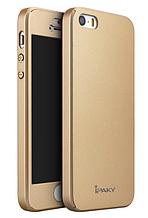 Защитный чехол iPaky для iPhone 5 5S золотистый