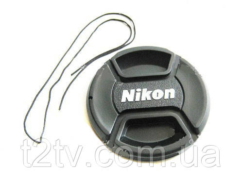 Крышка Nikon диаметр 62мм, с шнурком, на объектив