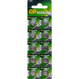 Батарейка GP ALKALINE Button Cell 1.5V 192-U10 щелочная, AG3, LR41 (4891199015533)