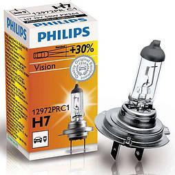 Автолампа Philips Vision H7 +30% (12972PR C1) 2.68e (12972PR C1)