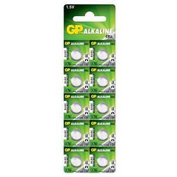 Батарейка GP ALKALINE Cell A76-U10 щелочная, A76, LR44 (4891199015496)