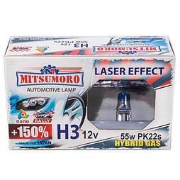 Автолампа MITSUMORO Н3 12v 55w Pk22s  +150 laser effect (птф) (M72320 PS/2)